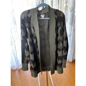 Mossimo Camouflage Cardigan Sweater